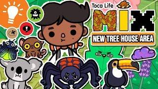 TREE HOUSE TRAILER - NEW In Toca Life: World!!! + SECRETS ABOUT THE AREA - Toca Life Mix UPDATE!!!!