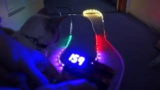 Neopixel christmas lights with user interface