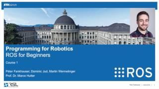 Programming for Robotics (ROS) Course 1