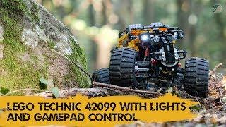 LEGO Technic 42099 4X4 X-treme Off-Roader has lights and gamepad control with BrickController 2