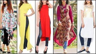 Latest Style Long Shirts / Kurta / kurti Designs For Girls 2017 | long Shirt with jeans Trend