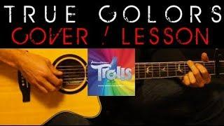 TRUE COLORS - Justin Timberlake Anna Kendrick Trolls Cover ???? Easy Acoustic Guitar Tutorial Lesson