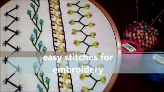 Hand embroidery: Easy stitches for embroidery | Handiwork | PART 2