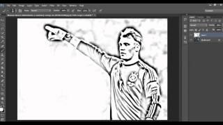 How to make a photo look like sketch in Photoshop - آموزش فتوشاپ