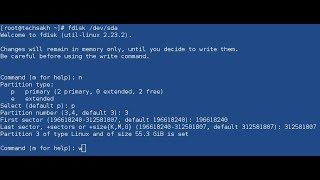 linux tutorials in Hindi - fdisk command Add Delete Partition in Linux