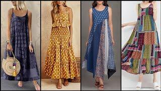 Stunning And Stylish Street Style Casual Long Loose Fitting Cotton /Leelun Shirt Dresses