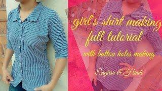 Girls shirt cutting and.stitching very easy method