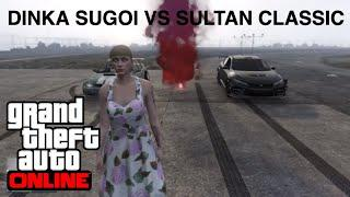 GTA5 Dinka Sugoi  (Honda Civic ) Vs Sultan Classic (Subaru)  DRAG RACE