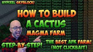 Hypixel Skyblock - How to Build a Cactus Magma AFK Farm - Step-by-Step Guide