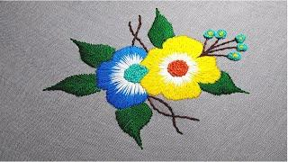 Cute Hand Embroidery Flower Designs Embroidery Designs For Beginners Step By Step Class 10 Miss A