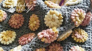 How to Crochet a Popcorn Flower Granny Square