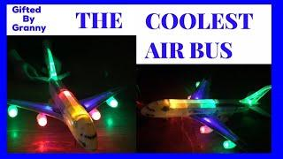 Incredible! Battery operated toy Airplane ! Airbus A380 lights & music ! Bump& go !!