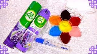 How to make Slime with Air Wick and Glue! / طريقة عمل اسلايم