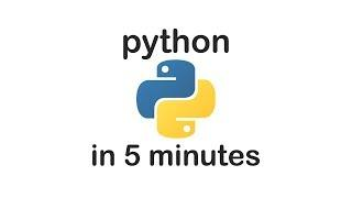 Learn PYTHON in 5 MINUTES