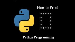 """How to print hollow square star """"*"""" pattern using python   python programming tutorial for beginners"""