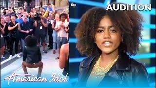 Kay Genyse: Judges Can't Decide So They Take Her Audition To The Street  @American Idol