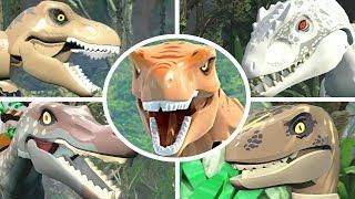 LEGO Jurassic World - All Bosses + Cutscenes