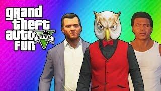 GTA 5 Online: Franklin's & Michael's House (Ball Hunt Mini Game & Funny Moments)
