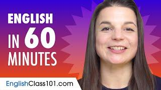Learn English in 60 Minutes - ALL the Basics You Need for Conversations