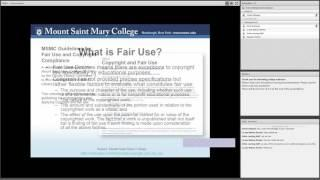 Copyright and Fair Use Guidelines for Online Courses - Lunch and Learn Webinars 2016
