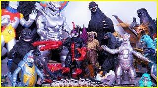 My HUGE GODZILLA COLLECTION: Figures, Toys, Monsters from Godzilla Movies + Bonus Surprise Egg