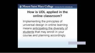 Universal Design and Online Courses That are Accessible: Lunch and Learn Webinar 2016