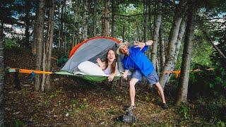 Our First TREE TENT CAMPING Experience in New Brunswick, CANADA⛺ | Sleeping in the TENTSILE CONNECT🌲