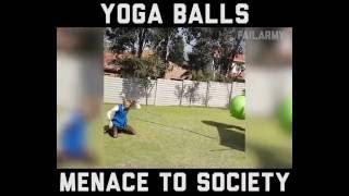 Funny Yoga Ball Fails Compilation from Fail funny