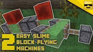 HOW TO MAKE SLIME BLOCK FLYING MACHINES (1.15+) | Minecraft Tutorial