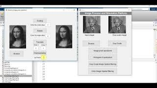 Graphical user interface (GUI) || Matlab code