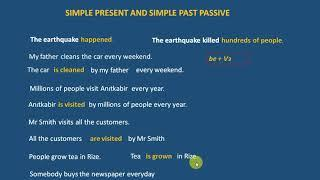 Simple present - simple past passive voice  (edilgen çatı)