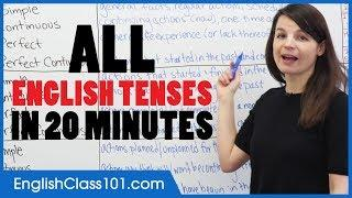 ALL English Tenses in 20 Minutes - Basic English Grammar