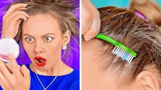 HANDY HAIR HACKS FOR EVERY GIRLS TROUBLE    Simple Beauty Tips by 123 Go! Genius