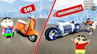 GTA 5 : Shinchan & Franklin Fight For Best Bike in GTA 5 ! (GTA 5 mods)