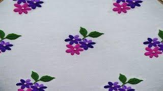 All Over Design For Dress Hand Embroidery Oyster Stitch