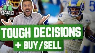 Fantasy Football 2020 - Tough Decisions + Week 7 Buy/Sell, TNF Preview - Ep. #967