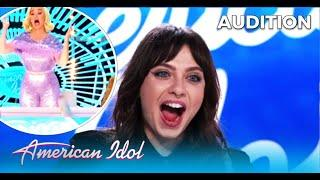Saveria: Canadian Girl's Audition Ends With a SHOCKING Result - Katy Perry Loses It! @American Idol
