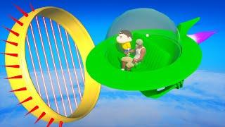 SHINCHAN AND FRANKLIN TRIED THE IMPOSSIBLE UFO PARKOUR CHALLENGE GTA 5