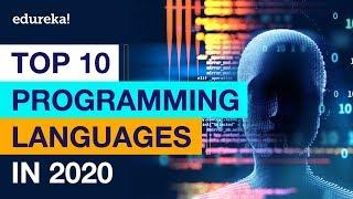 Top 10 Programming Languages In 2020 | Best Programming Languages To Learn In 2020 | Edureka