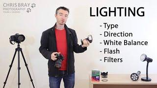 Lighting made EASY: Type, Direction, Flash, White Balance, Filters - Photography Course 8/10