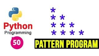 Python Pattern Programs - Printing Stars '*' in Right Angle Triangle Shape | Star Pattern