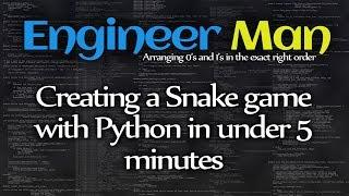 Creating a Snake game with Python in under 5 minutes