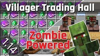 Villager Trading Hall Tutorial with Zombie Discounts | Minecraft 1.14/1.15 (Java Edition)