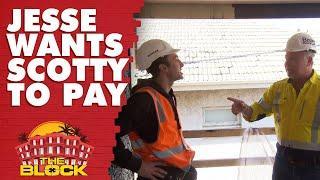 Jesse wants Scott to pay to get his ceiling fixed | The Block 2019