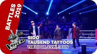 Sido - Tausend Tattoos (Theodor, Evin, Leon) | Battles | The Voice Kids 2019 | SAT.1