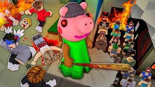 Playing as PIGGY vs 100 PLAYERS... (Roblox)