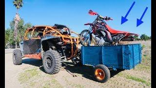 Building/Testing The *ULTIMATE OFFROAD* Motorcycle Trailer!!!