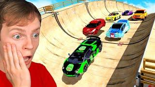 YOUTUBER SUPER CARS in GTA 5 vs MEGA RAMP!