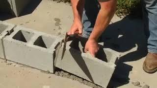 How to build the house by using concrete block lay block foundation high profits low cost