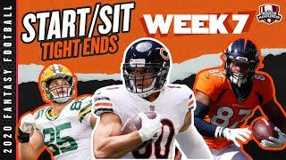 2020 Fantasy Football Advice - Week 7 Tight Ends - Start or Sit? Every Match Up